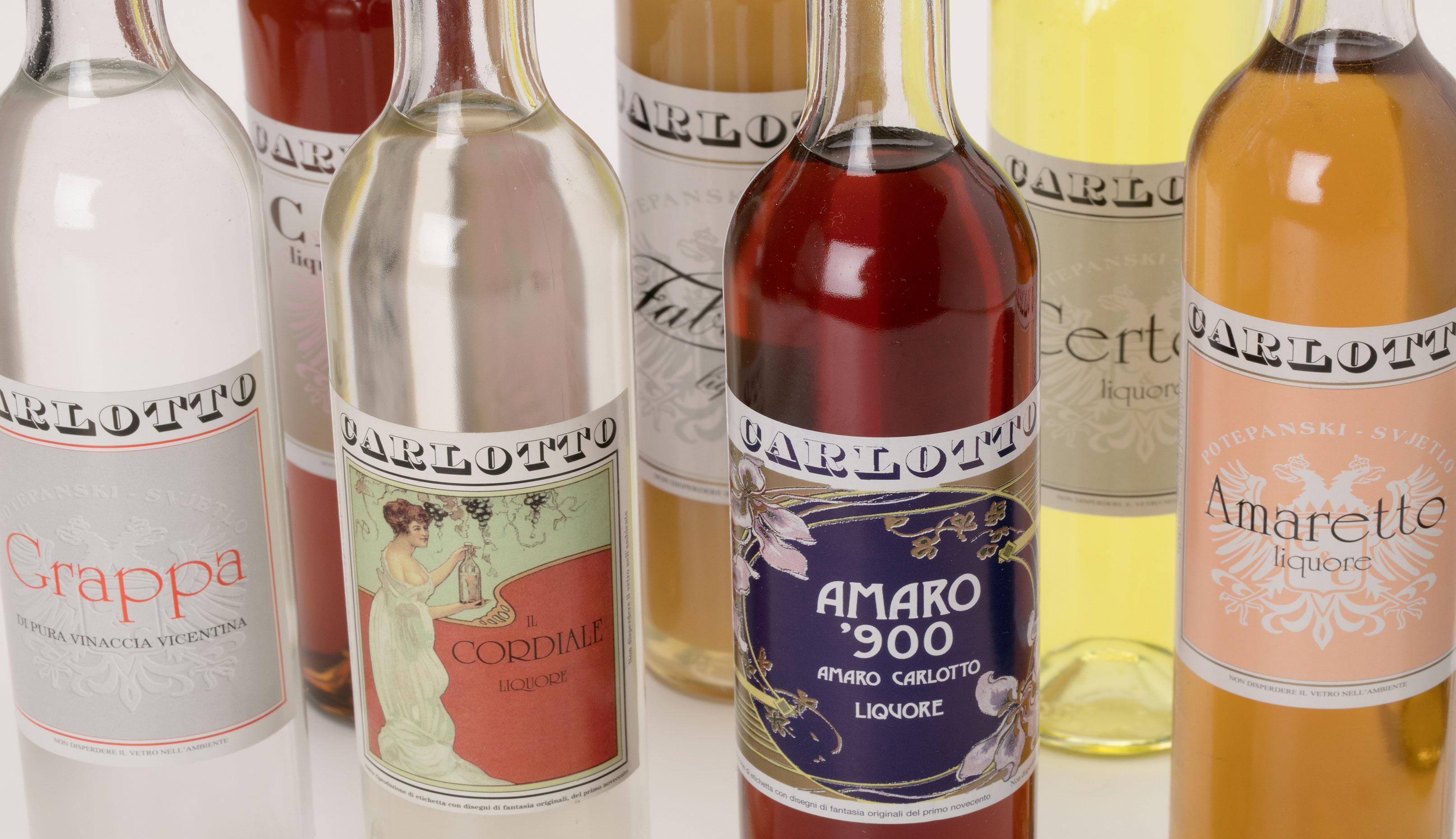 Carlotto Liquori, alcune etichette realizzate da Tipografia Unione.