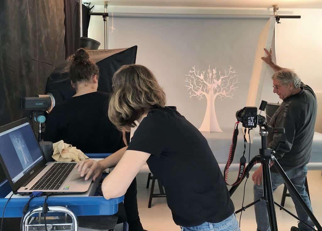 """Backstage fotografico con gli Alberi """"Le stagioni"""""""