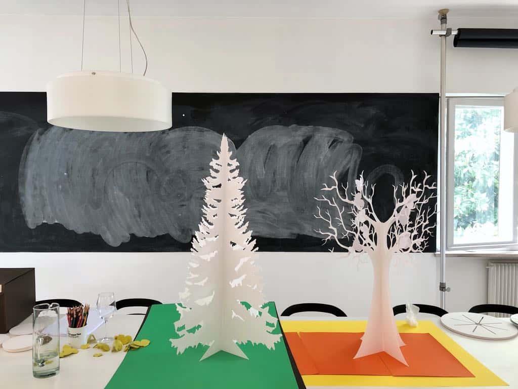 I nostri due alberi dedicati all'Inverno e alla Primavera assemblati