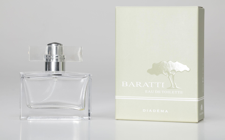 Packaging realizzato per il profumo Baratti di Diadèma.
