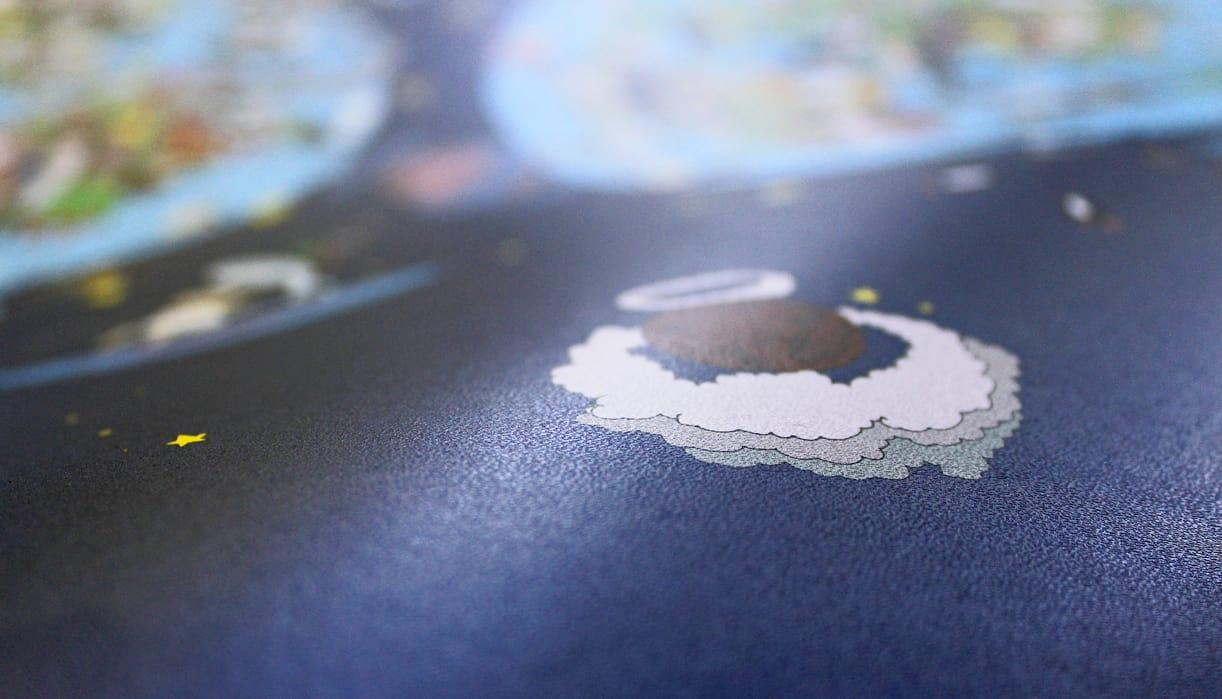 Dettaglio della carta Lunar white di Favini.