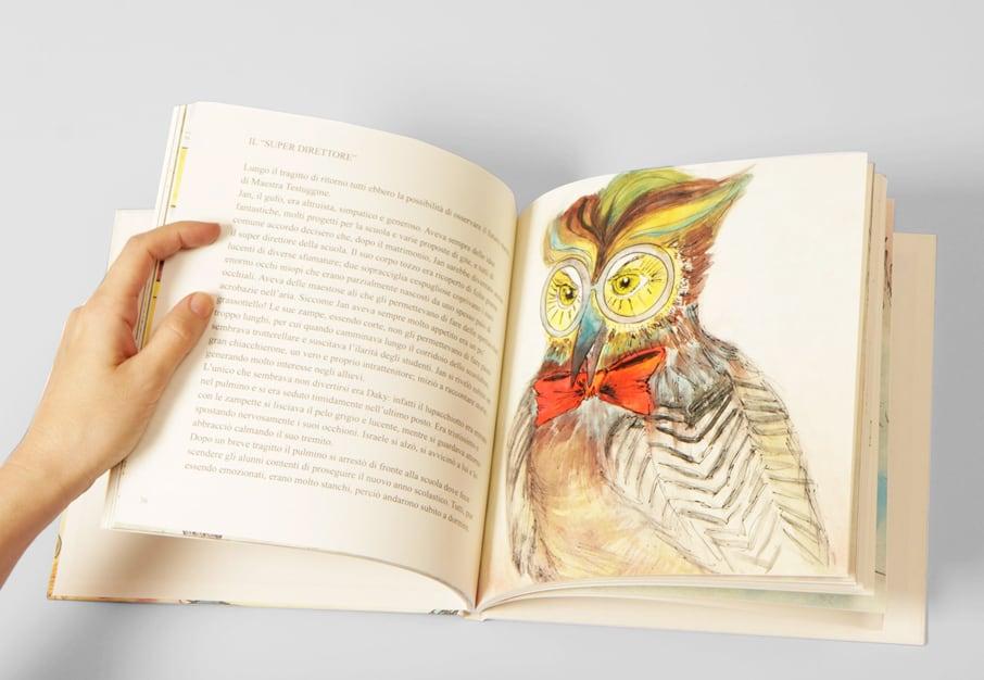 Il libro Team for Children Vicenza Onlus, dettaglio con Il Super Direttore