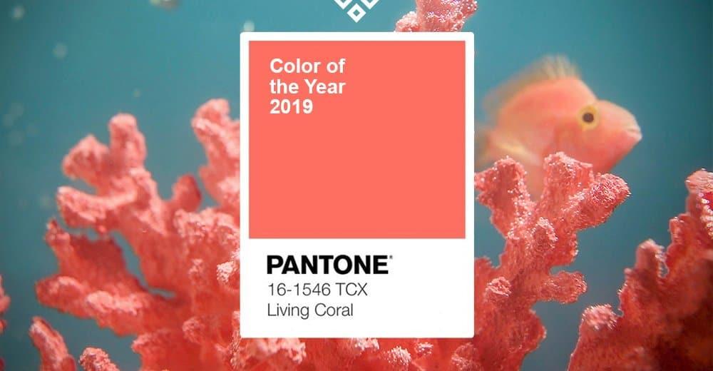 Pantone Living Coral 2019.