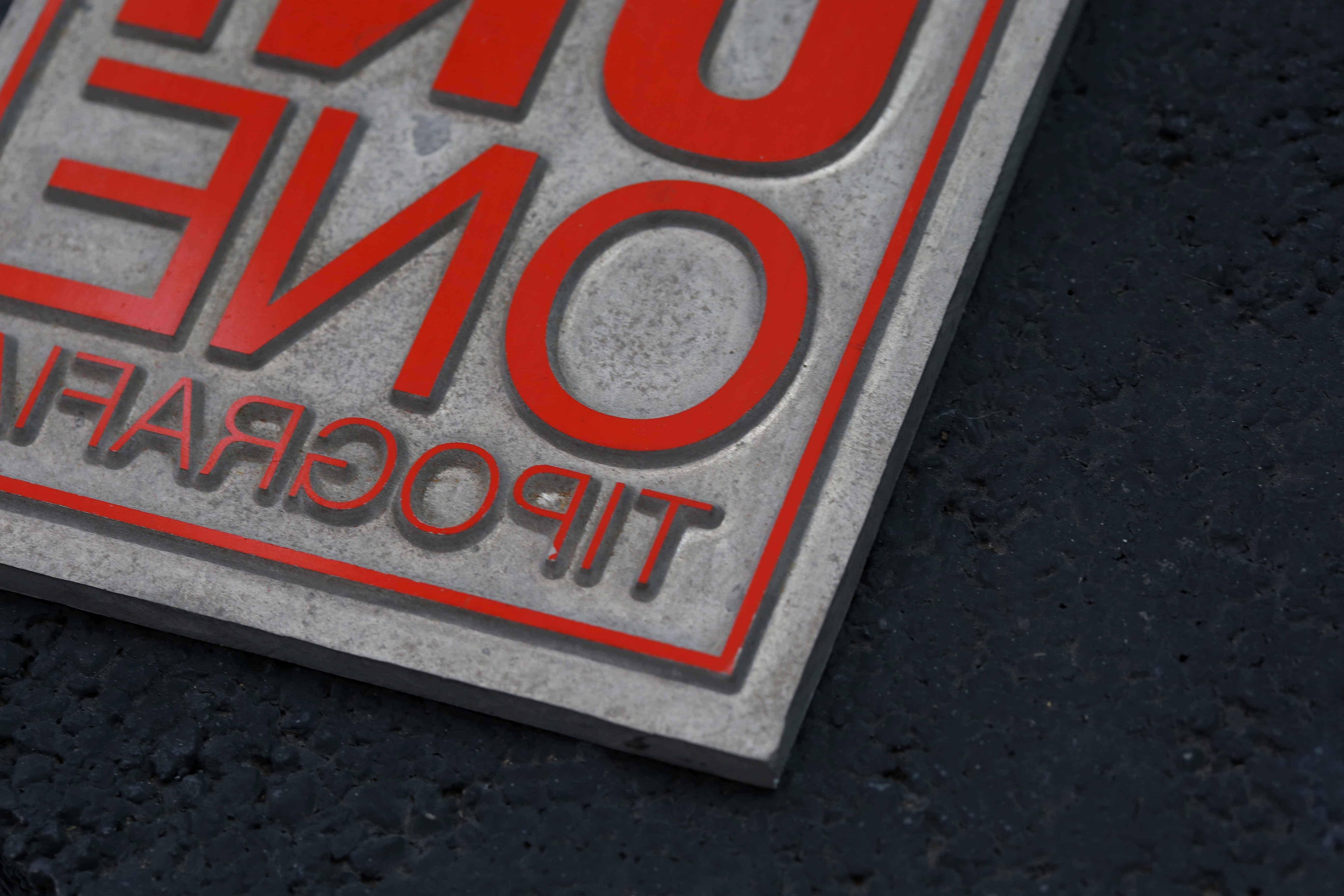 Cliché per la stampa del logo di Tipografia Unione. Dettaglio lavorazioni.