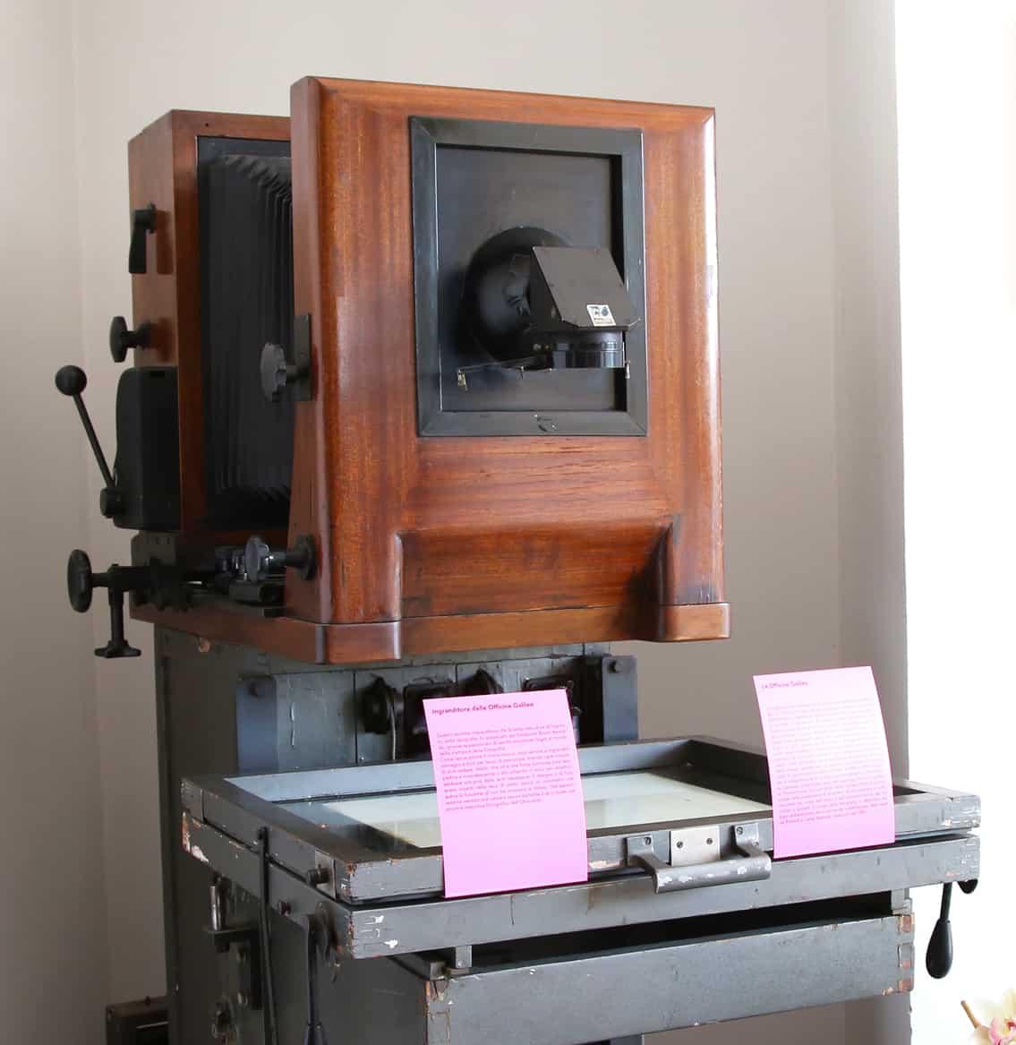 Ingranditore delle Officine Galileo. Dettaglio. Blog di Tipografia Unione.