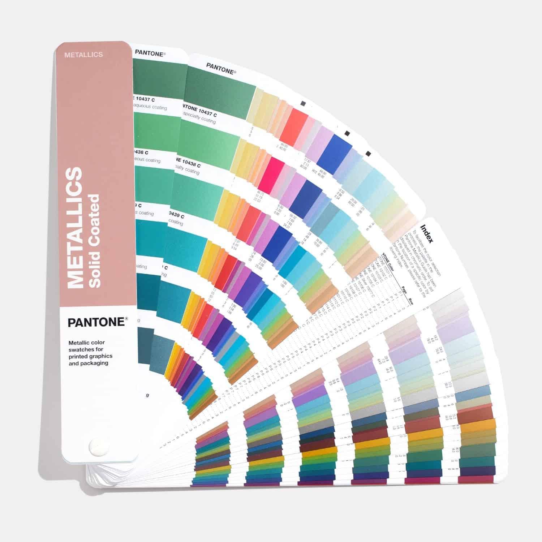 Pantone, catalogo dei colori metallici per la stampa e il packaging, dettaglio. Tipografia Unione.