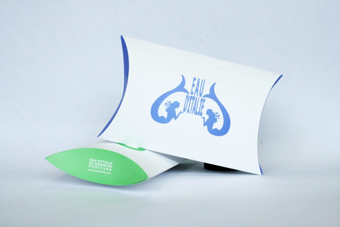 Packaging per profumi realizzato su misura per Eau d'Italie. Tipografia Unione, Vicenza.