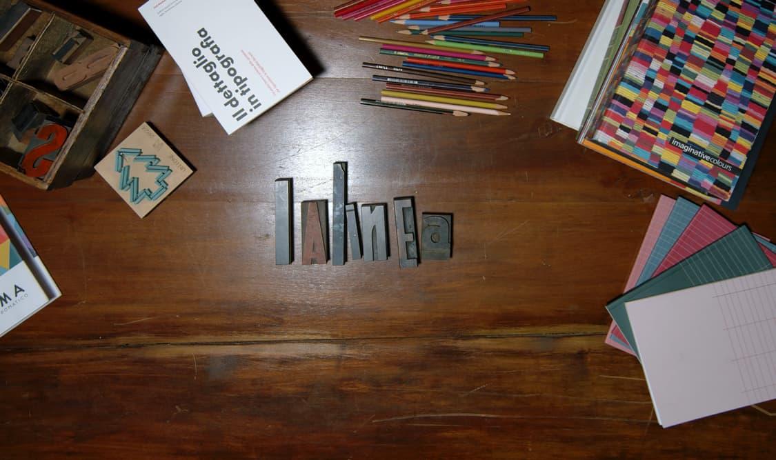 Lalinea è una linea di cartoleria nata dalla collaborazione tra Quivirgola e Tipografia Unione.