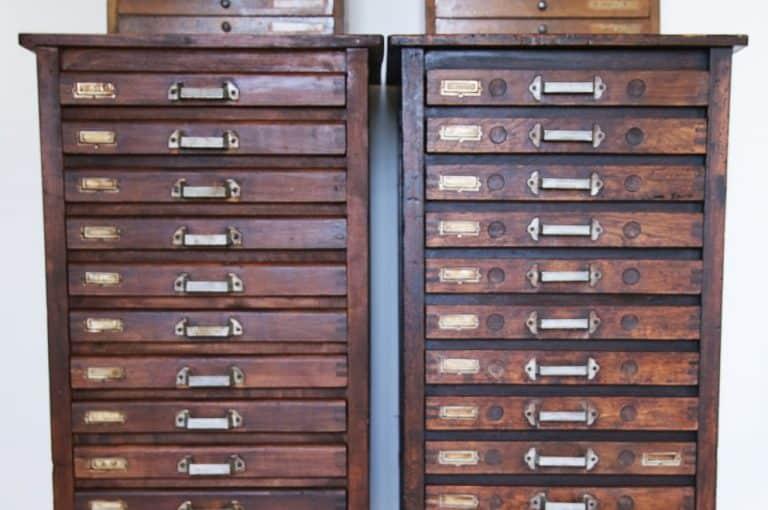 Cassa tipografica in legno, museo interno. Tipografia Unione, stampa e packaging a Vicenza