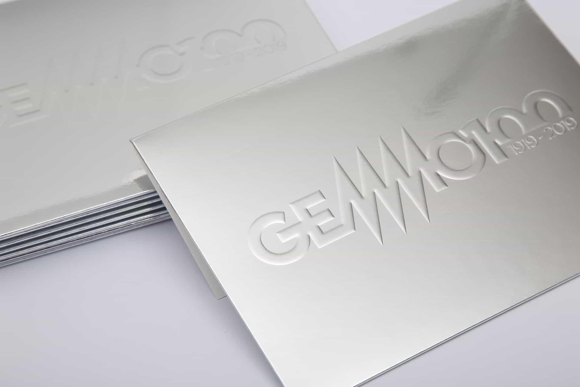 Gemmo, busta da invito, fronte. Tipografia Unione, stampati di piccolo formato, Vicenza.