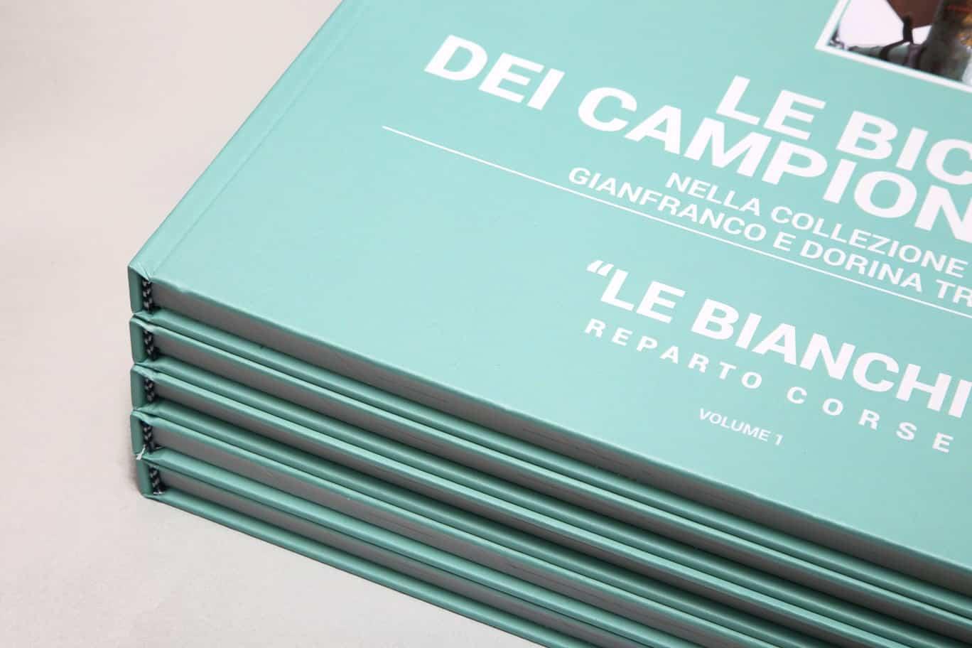 Le bici dei Campionissimi, dettaglio della copertina. Libro stampato da Tipografia Unione