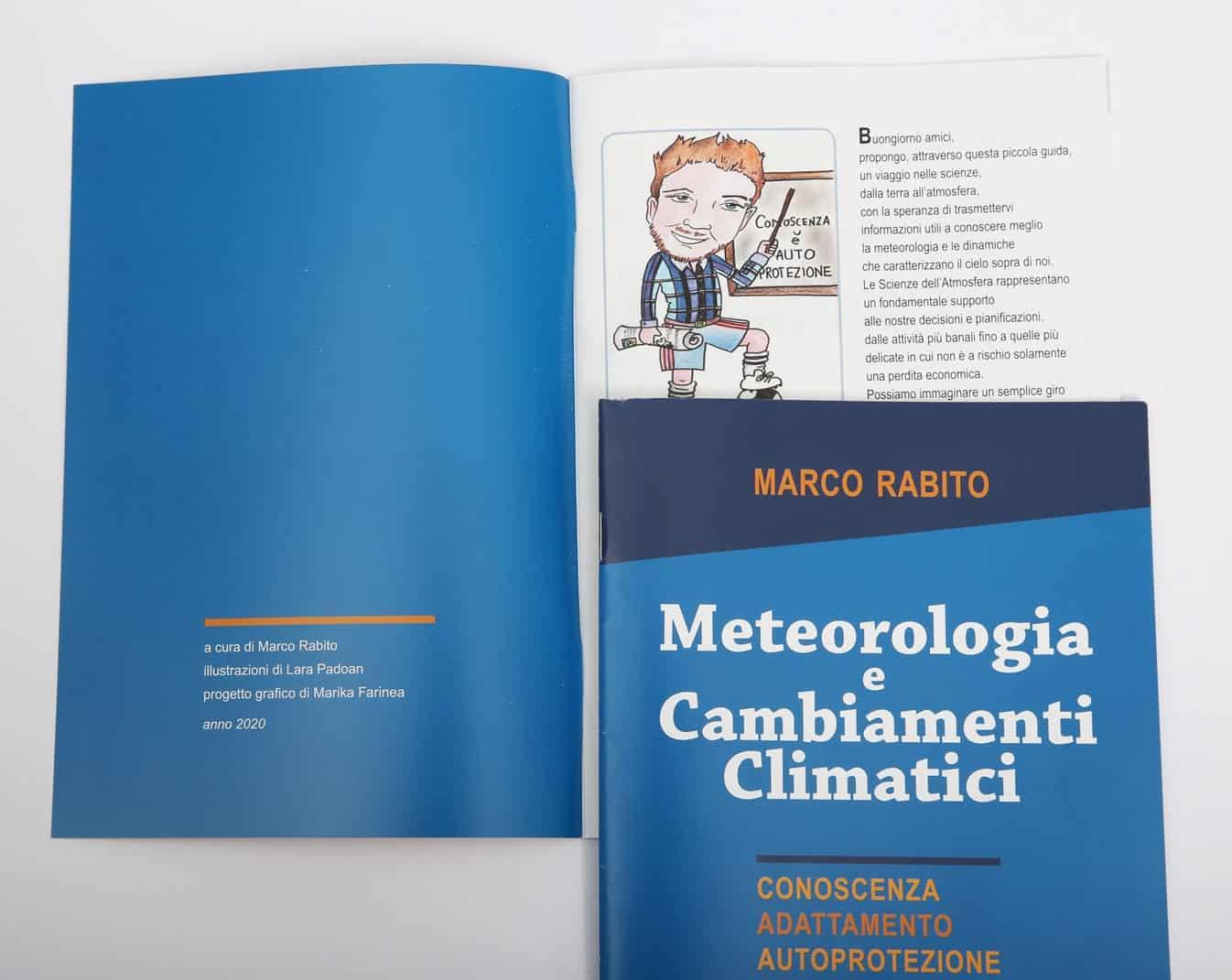 Marco Rabito e Serenissima Meteo, opuscolo, interno e copertina. Tipografia Unione, stampa, Vicenza.