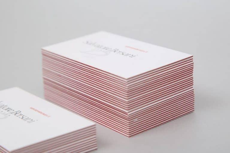 Salvatore Bersani Italia, biglietti da visita con accoppiatura Sirio Colo lampone, dett. Tipografia Unione, Vicenza