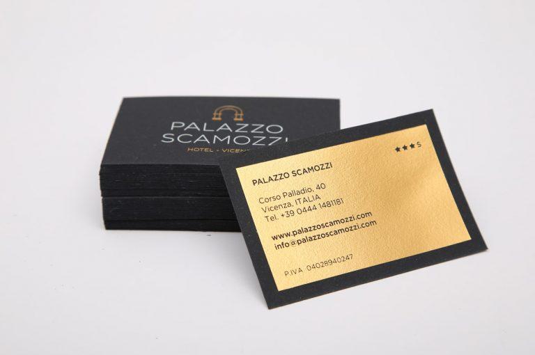 Tipografia Unione, biglietto da visita per Hotel Palazzo Scamozzi di Vicenza. Piccoli stampati.