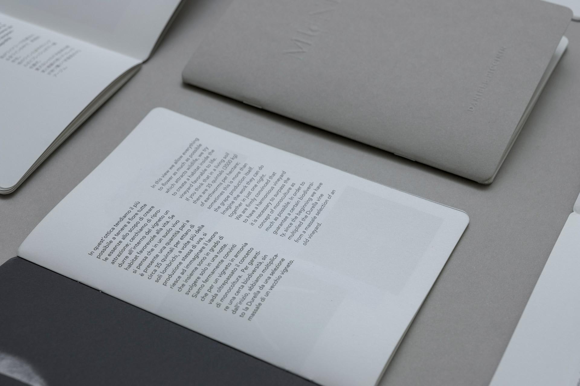 Muni, copertina brochure con Zeroartdesign. Ph Lorenzo Rui. Tipografia Unione, Vicenza. Originale